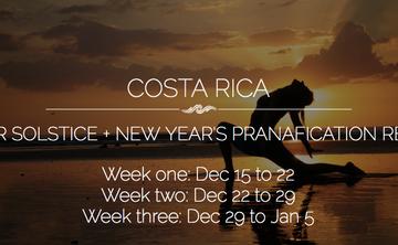 COSTA RICA:  Revive – Prana Vinyasa New Year Retreat