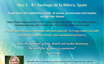 TriYoga Immersion with Santoshi Devi, Santiago de la Ribera Spain May 2 -8