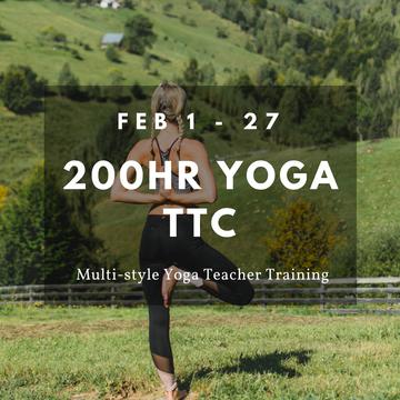 200hrs Yoga Teacher Training – 27 Days Multi-style Yoga Alliance Certified – February 2019