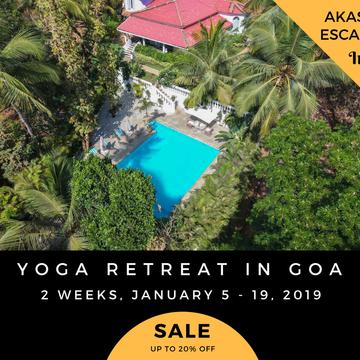 15 Days Yoga Retreat in Goa, India