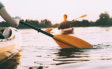 Yoga and Kayaking