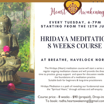 8-Week Hridaya Meditation Course in New Zealand