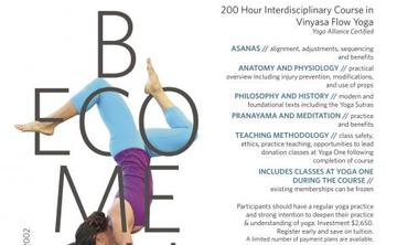 Yoga One Teacher Training Summer Intensive
