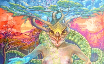 Ayahuasca Yin and Yang Mythic Voyage