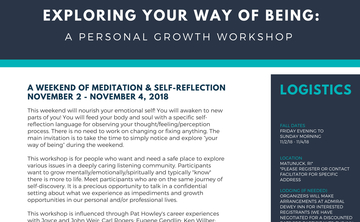 Exploring Your Way of Being: A Personal Growth Workshop