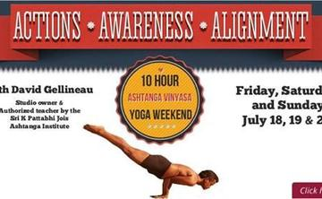 Actions, Awareness, Alignment - An Ashtanga Vinyasa Yoga Weekend with David Gellineau
