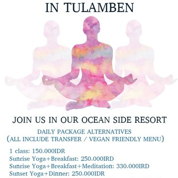 3 NIGHTS / 4 DAY OCEANSIDE YOGA AND MEDITATION RETREAT / COMBINED WITH DIVING OPTION