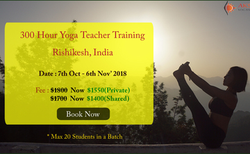 Get $300 Off on Booking for 300 Hour Yoga TTC inRishikesh