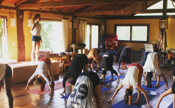 2019 New year's Iyengar Yoga retreat in Florianópolis, Brazil