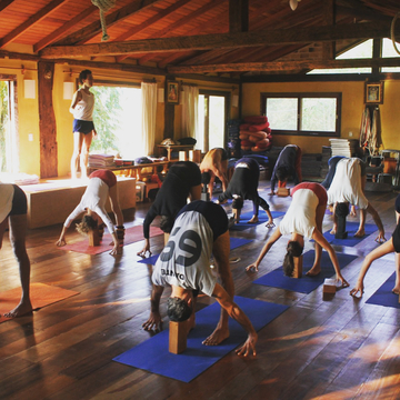 2019 New year's Iyengar Yoga retreat in Florianópolis, Brazil