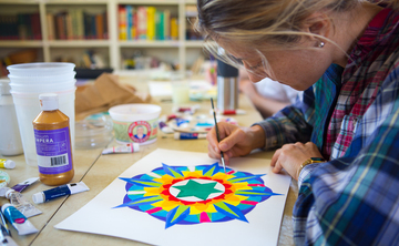 Removal of obstacles: Yantra painting for the New Year