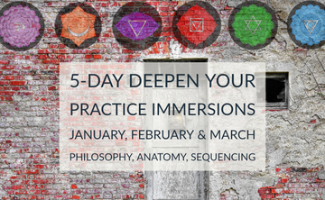 Deepen Your Practice Immersions: Jan, Feb & March 2019