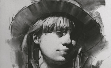Portrait Drawing in Tuscany with Jie Gao