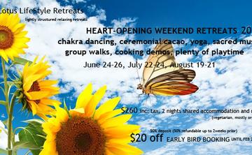 Sun Lotus Lifestyle Retreat Series:  HEART-OPENING WEEKEND July 22-24