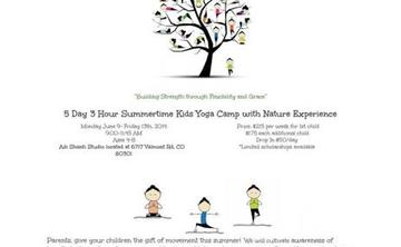 Summer time Kids Yoga Camp with Nature Experience