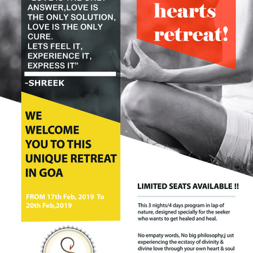 HEALING HEARTS RETREAT – 3 NIGHTS/4 DAYS IN GOA