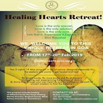 HEALING HEARTS RETREAT – 3 NIGHTS/4 DAYS IN GOA
