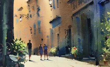 Landscape Painting in Tuscany with Sergei Kurbatov
