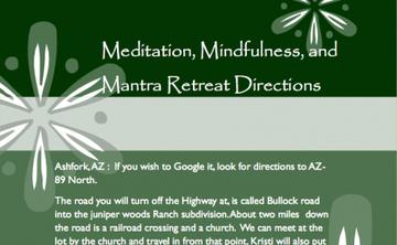 Meditation, Mindfulness, and Mantra Retreat