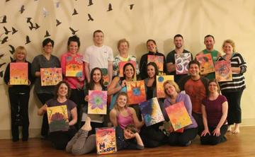 Relax, Recharge & Create- Yogic Painting Party