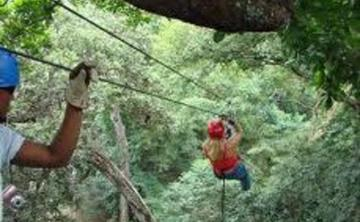 8 Days Costa Rica Surf Yoga Retreat, Canopy Zip Line