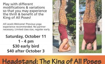Headstand: The King of All Poses - An Inversion Workshop w/April Martin