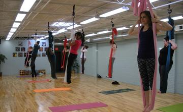 UNNATA Aerial Yoga with Jenn - Last Sundays!