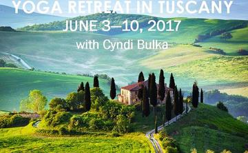 2017 Yoga Retreat in Tuscany with Cyndi Bulka