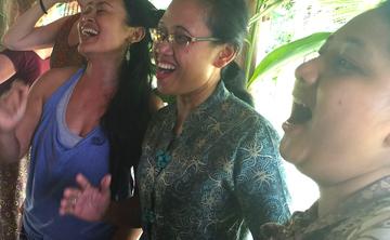 Singing, Yoga and Kecak in Bali