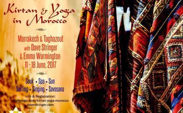 Luxury Kirtan & Yoga Retreat with Dave Stringer & Emma Warmington in Morocco