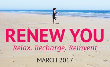 Renew You: 1-on-1 Coaching & Wellness Retreat (3 nights) - March 2017