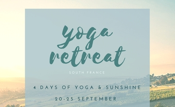 Boutique Yoga Retreat | South of France, 20-25 September 2017