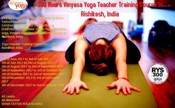 300 hour Vinyasa yoga Teacher Training course in Rishikesh, India