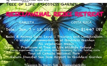 Elemental Gifts/Tree of Life Animal Reiki Training & Retreat Costa Rica