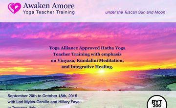 Awaken Amore Yoga Teacher Training in Tuscany!