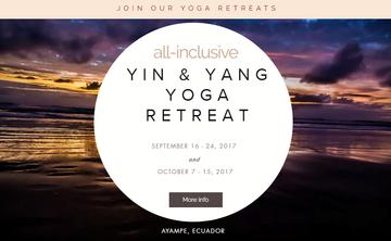 All-inclusive beach-front Yin & Yang Yoga Retreat in Ayampe, Ecuador