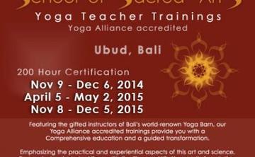 BALI - School of Sacred Arts Yoga Teacher Training (200-hour Yoga Alliance accredited)
