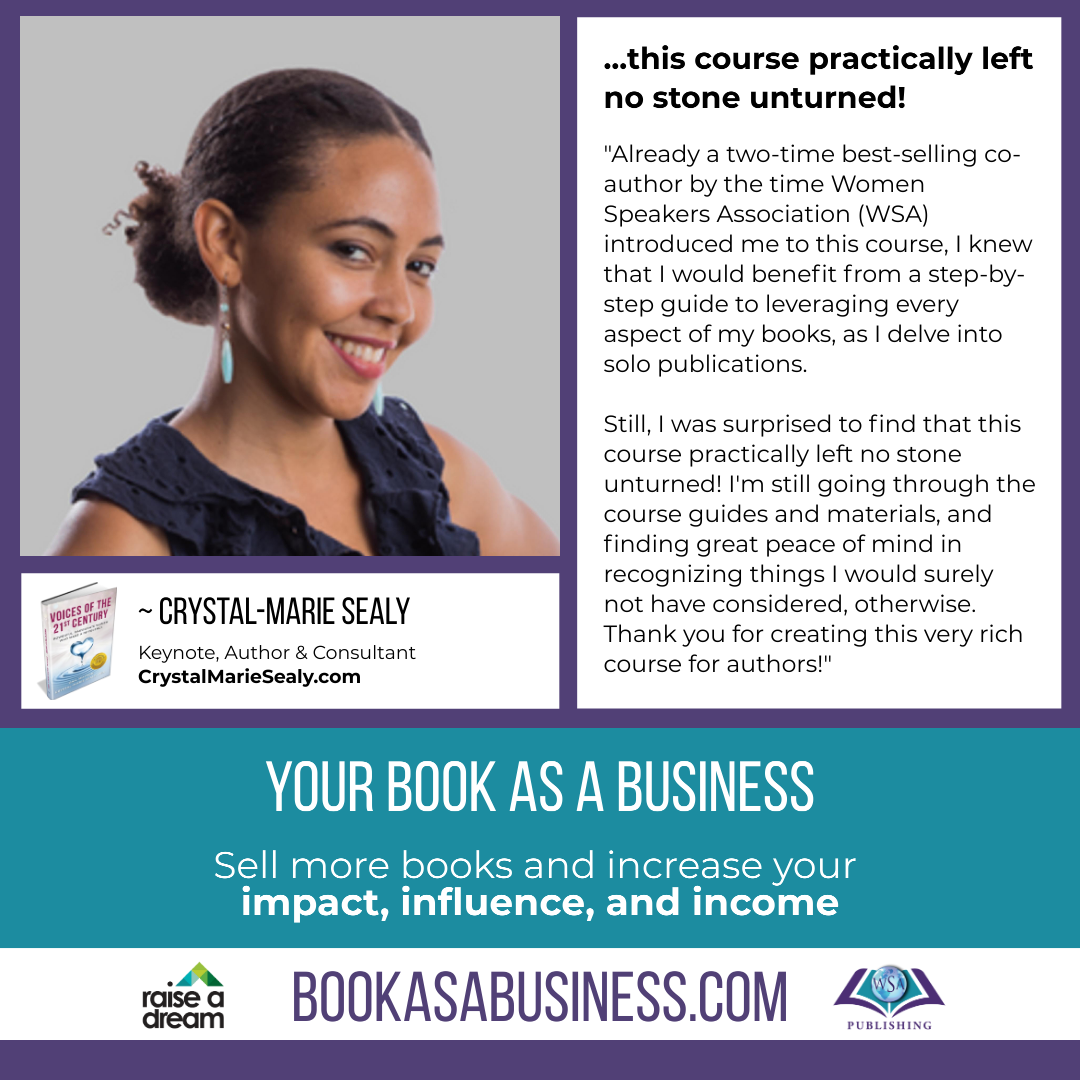 Your Book as a Business - Testimonial - Crystal-Marie Sealy