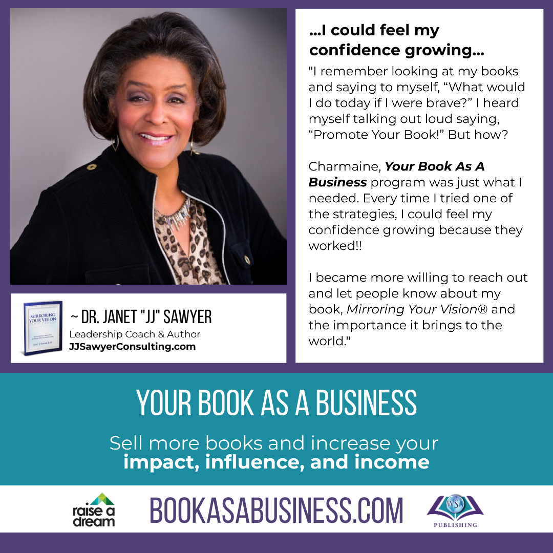 Your Book as a Business - Testimonial - Dr Janet JJ Sawyer