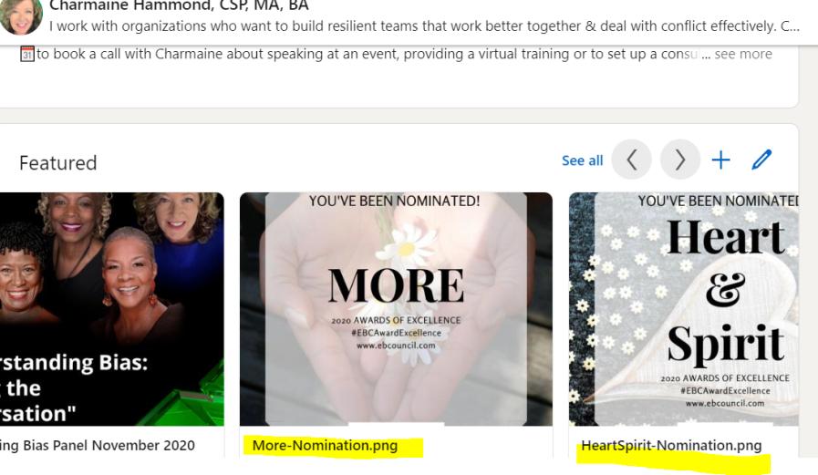 LinkedIn Award Nominations
