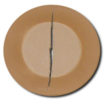 A typical DFAC drying disk of an iron stoneware clay