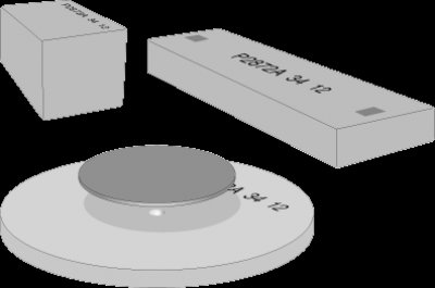Examples of DFAC disk, SHAB bar, LOI bar for clay testing