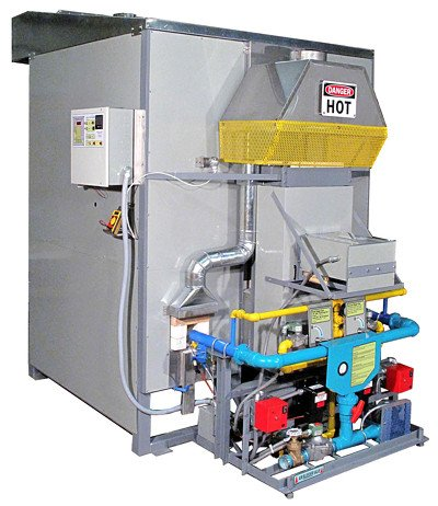 Example of a modern automatic firing reduction gas kiln for use by studio potters