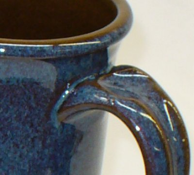 A glaze whose visual effect is partly a product of phase separation