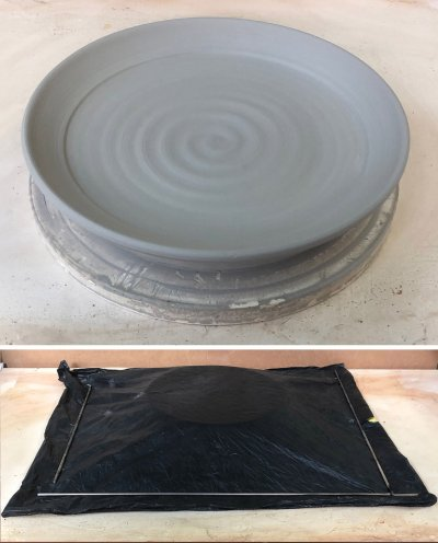 Wanna throw porcelain plates with thick bottoms and thin rims?
