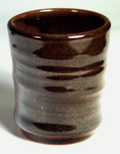 A cone 10 reduction tenmoku glaze with about 10% iron oxide