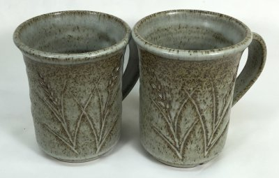 Iron speckled cone 10 reduction stoneware with dolomite glaze