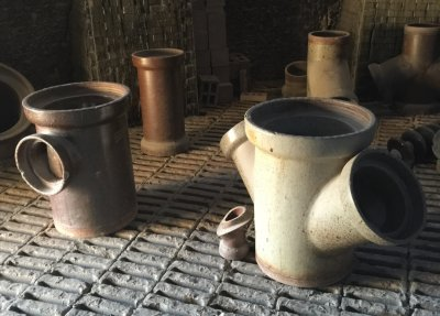 Salt glaze pipe fittings