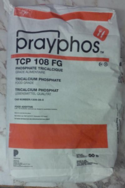 An original container bag of Tricalcium Phosphate