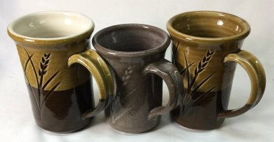 Transparent glazes often work poorly on dark stoneware bodies